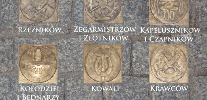 Ceh Rzemiosł Różnych – Piotrkowskie cechy – herby wmurowane w ul. Farną